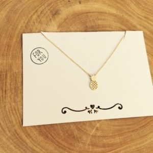 ananas gold plated ketting