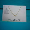 Klein half Zon gold plated ketting