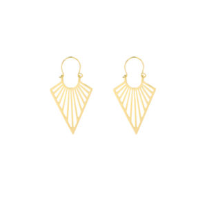 Gold plated Earrings Gypsy V goud