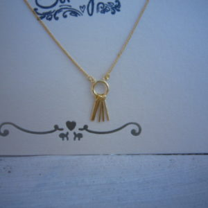 Gold Plated ketting cool lines.