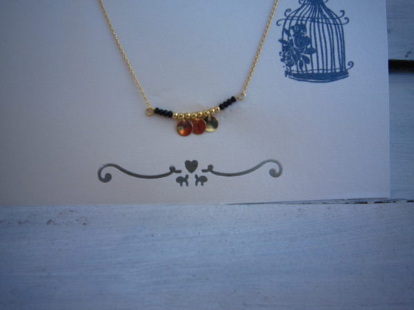 Gold Plated ketting coin row.