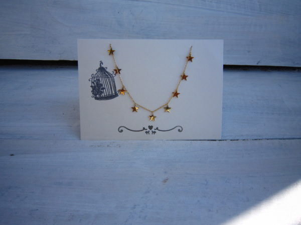 Gold Plated KETTING STAR FAMILY - Goud