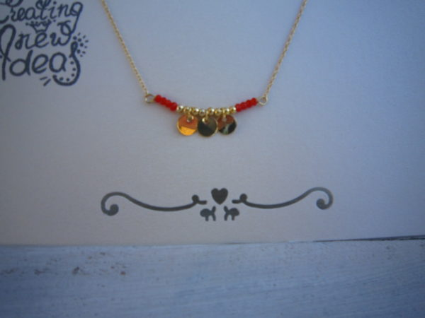 Gold Plated ketting coin row - Grijs