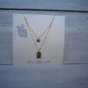Lange gold plated Elizabeth 2 ketting
