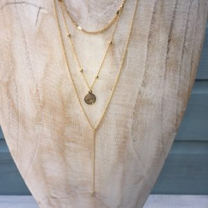KETTING LAYERING COIN - Gold plated.