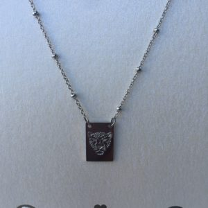 KETTING STAY WILD TIGER - stainless steel Zilver.
