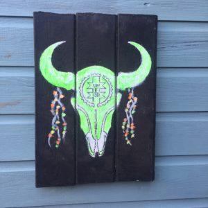 Buffalo scull schilderij- wandbord