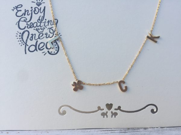 KETTING LUCK QUOTE Goud.