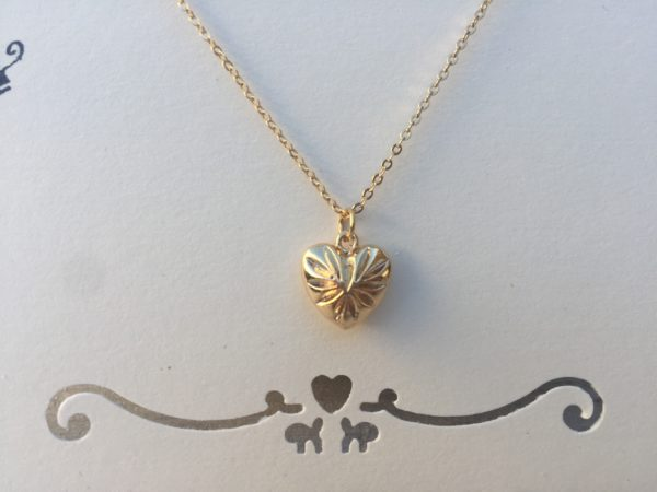 KETTING YOU HAVE MY HEART -SMALL- goud.
