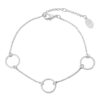 ARMBAND LOVELY CIRCLES Zilver.