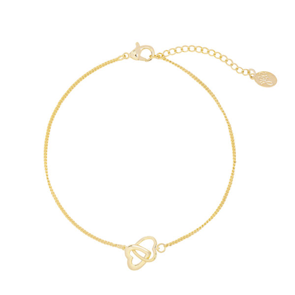 ARMBAND TWO HEARTS Goud.