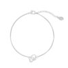 ARMBAND TWO HEARTS Zilver.