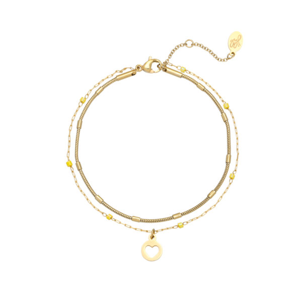 ARMBAND WITH LOVE Geel.