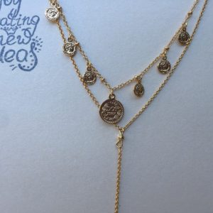 KETTING COIN & LAYERS goud.