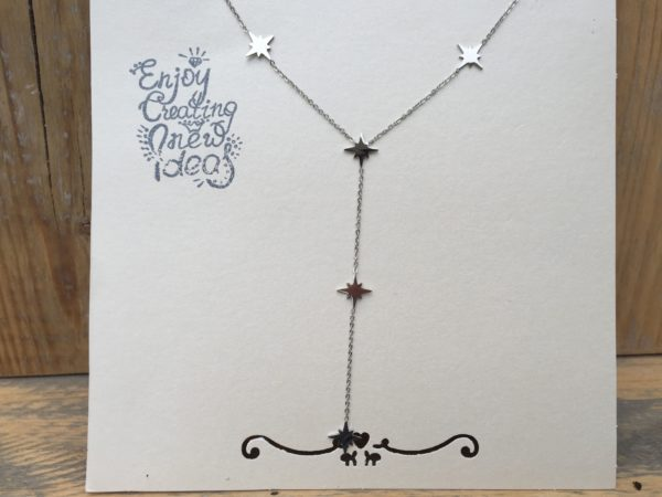 KETTING STARRY zilver.