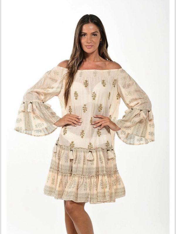 NJ Couture jurkje - ecru