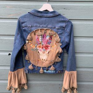 Bohemien jacket Buffalo hoofd-handmade- maat S.