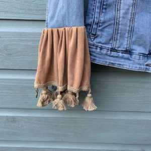 Bohemien jacket Buffalo hoofd-handmade- maat M ( lange model)
