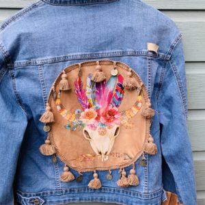 Bohemien jacket Buffalo hoofd-handmade