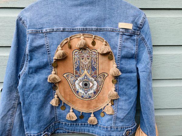 Bohemian jacket Fatima-hand -handmade. maat 44