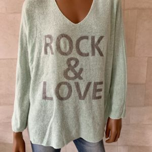 ROCK & LOVE' GEBREIDE TRUI- Groen.