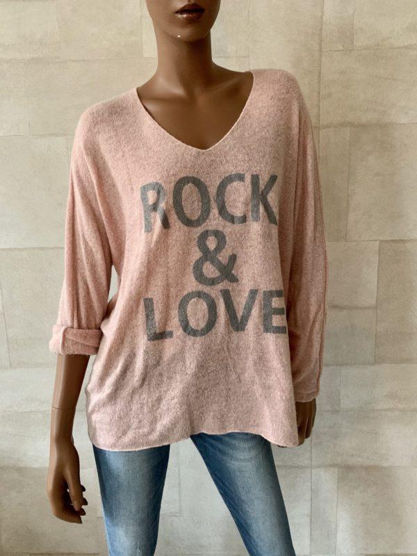 ROCK & LOVE' GEBREIDE TRUI- Rose.