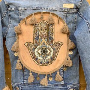 Bohemian jacket Fatima-hand Handmade.
