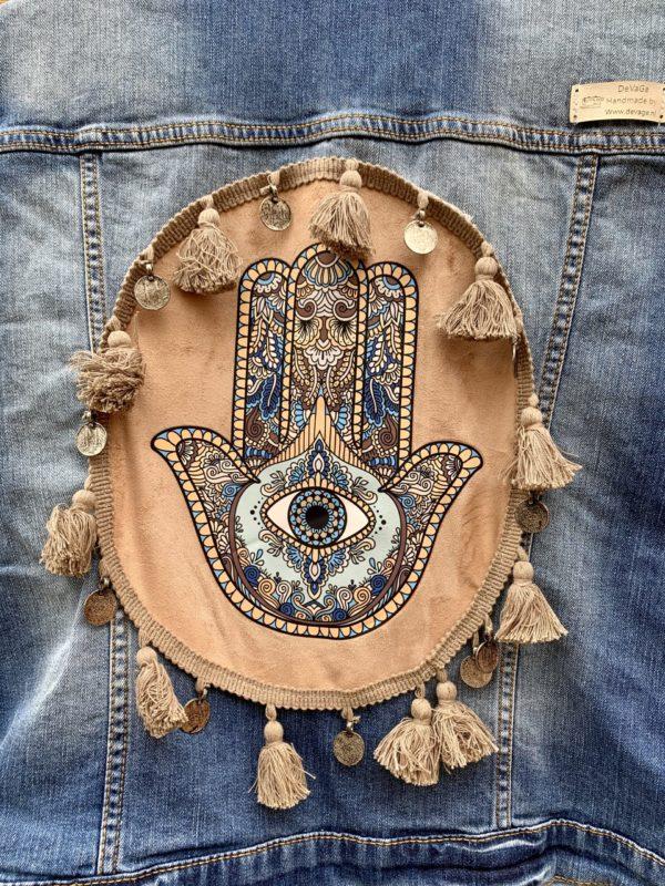 Bohemian gilet Fatima-hand Handmade maat L.