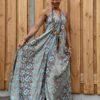 Bohemian oosterse print jurk - One size