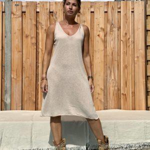 Onderjurk , basic lange top.- one size