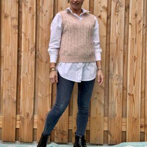 Noa gebreide dames spencer -rosé kleur – one size.