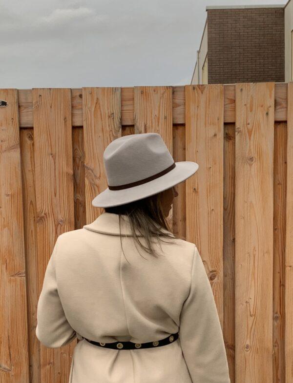 Lilou wollen hoed - Grijs kleur.