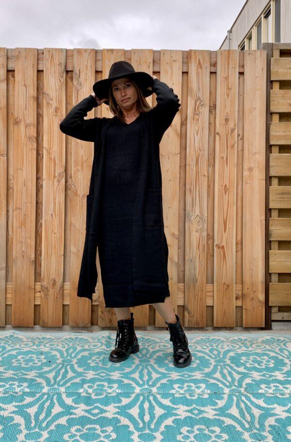 Dames Hoed -zwart kleur -one size.