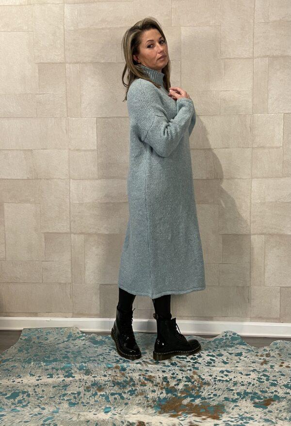 Isabelle half open trui - Petrol kleur - One size.