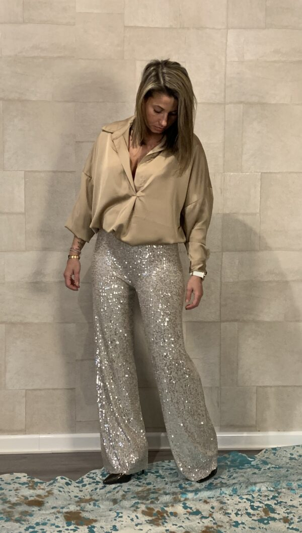 Tess Crèmekleur blouse - one size.