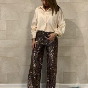 Tess champagne blouse - one size.