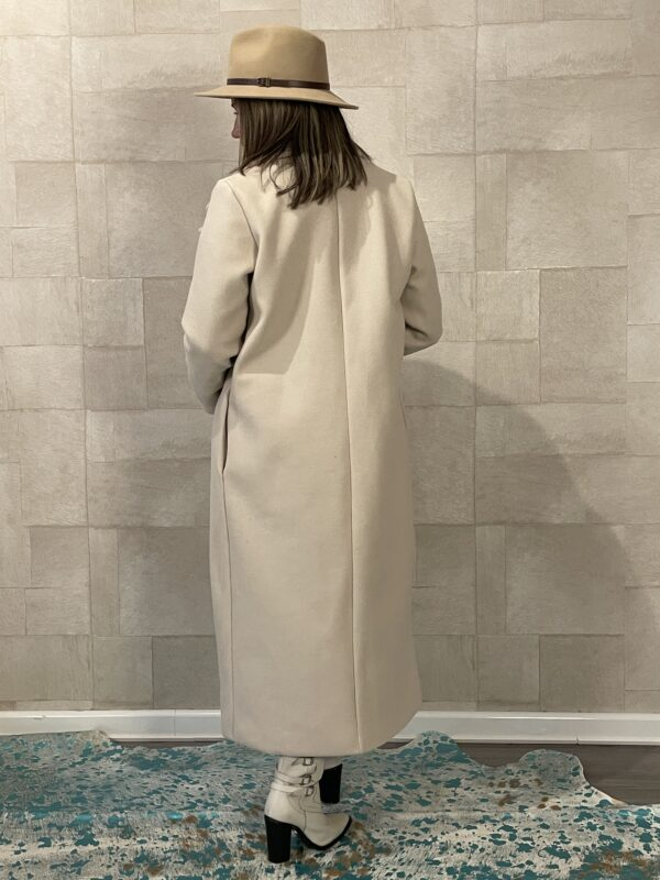 Chloé nette lange jas off white - one size.