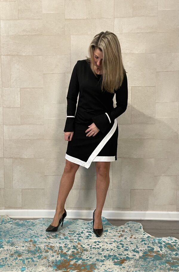 Valentina zwart wit jurkje - one size.