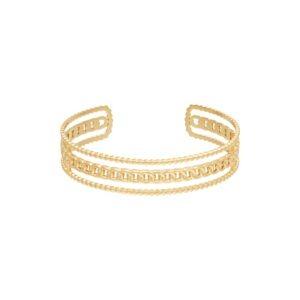 Armband Triple Chains Stainless steel – Goud kleur.
