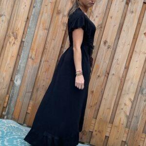 Alexa wikkel jurk one size - zwart kleur.