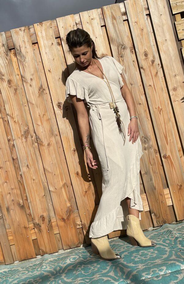 Alexa wikkel jurk one size - Off White kleur.