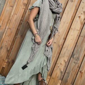 Alexa wikkel jurk one size - licht groen kleur.