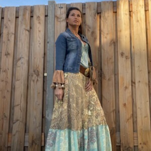 Julia Patch rok van Gold & Silver. Maat T2 M/L.