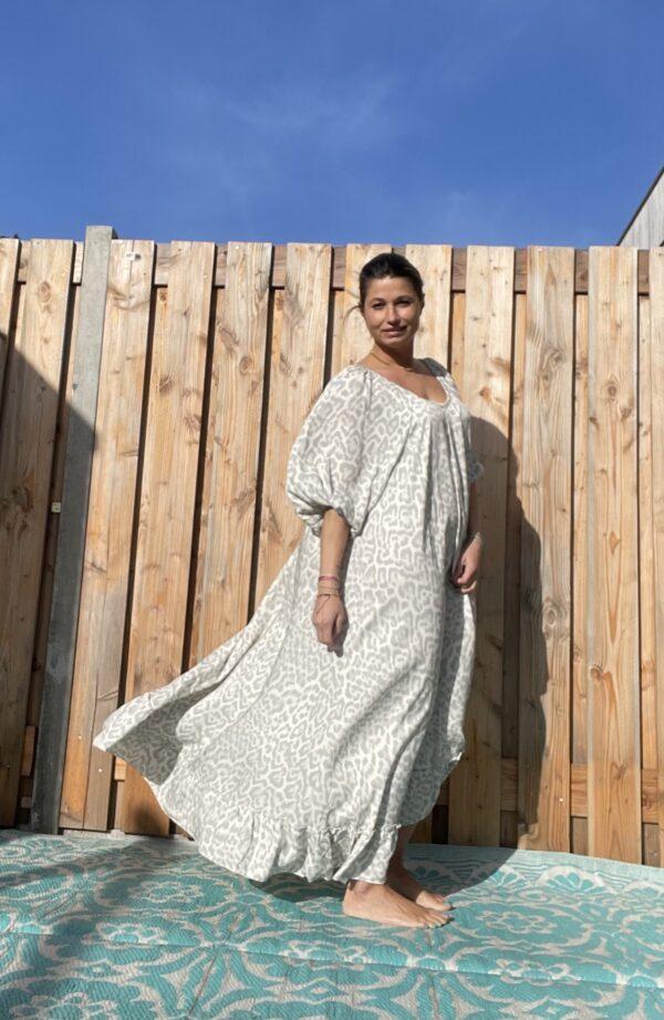 Valentine Maxi superwijd jurk- one size.