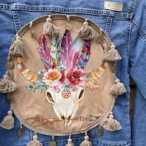 Bohemien jacket Buffalo hoofd handmade.
