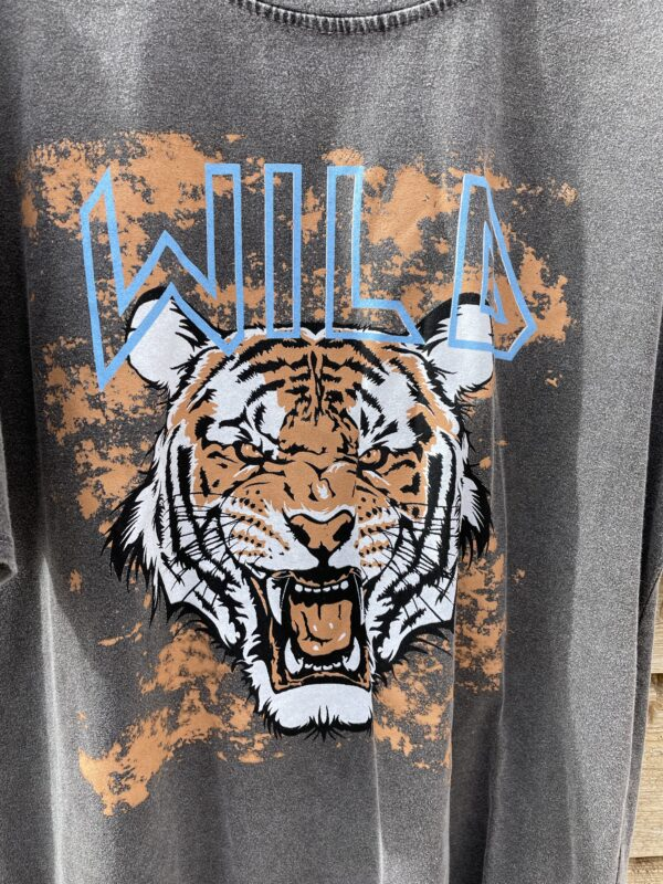Tiger teken antraciet shirt - one size.