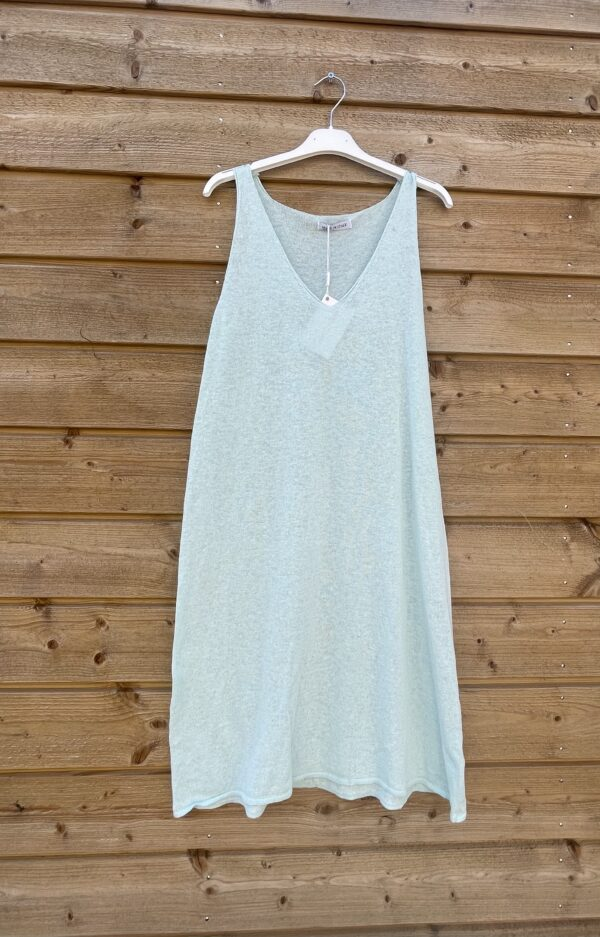 Onderjurk , basic lange top.- one size- baby blauw.