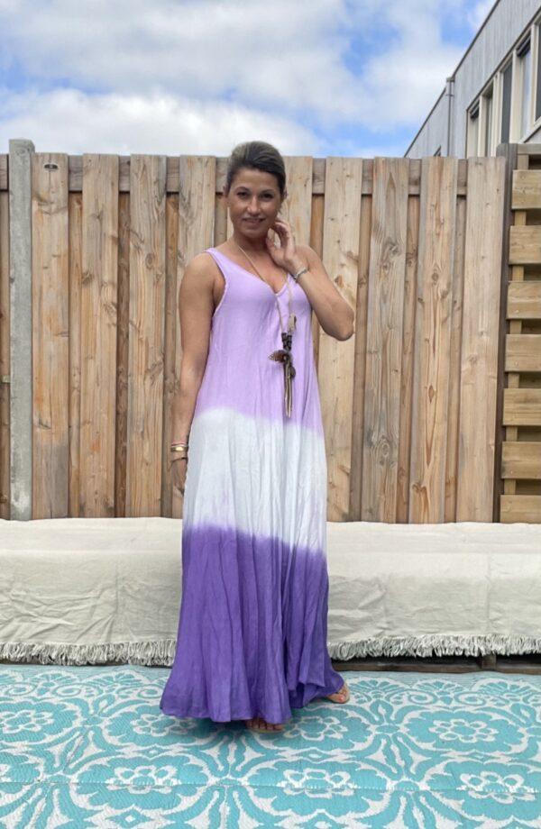 Maxi lange jurk – Mix kleur.- one size -3.