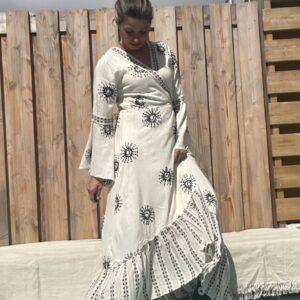 JOT Wikkel jurk kimono - One Size.