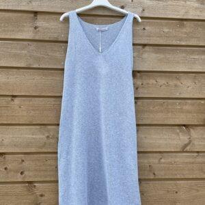 Onderjurk , basic lange top.- one size- Spijker blauw.